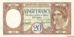 20 Francs NOUVELLE CALÉDONIE  1940 P.37b