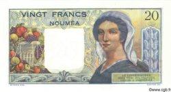 20 Francs NOUVELLE CALÉDONIE  1958 P.50bs NEUF