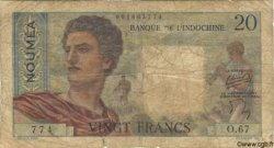 20 Francs NOUVELLE CALÉDONIE  1958 P.50b