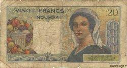 20 Francs NOUVELLE CALÉDONIE  1958 P.50b AB