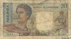 20 Francs NOUVELLE CALÉDONIE  1963 P.50c