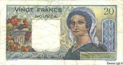 20 Francs NOUVELLE CALÉDONIE  1963 P.50c B+