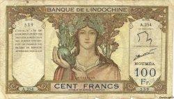 100 Francs NOUVELLE CALÉDONIE  1963 P.42e B