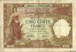500 Francs NOUVELLE CALÉDONIE  1938 P.38 B+