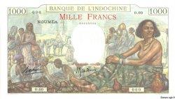 1000 Francs NOUVELLE CALÉDONIE  1938 P.43as