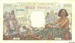 1000 Francs NOUVELLE CALÉDONIE  1938 P.43a TTB