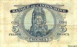 5 Francs NOUVELLE CALÉDONIE  1944 P.48 TB+