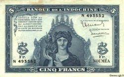 5 Francs NOUVELLE CALÉDONIE  1944 P.48 TTB+