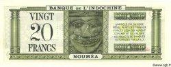 20 Francs NOUVELLE CALÉDONIE  1944 P.49s pr.NEUF