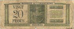 20 Francs NOUVELLE CALÉDONIE  1944 P.49 AB