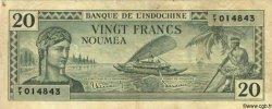 20 Francs NOUVELLE CALÉDONIE  1944 P.49 TB