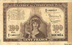 100 Francs NOUVELLE CALÉDONIE  1942 P.44 TB