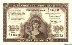 100 Francs NOUVELLE CALÉDONIE  1944 P.46bs pr.NEUF