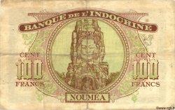 100 Francs NOUVELLE CALÉDONIE  1944 P.46b TB