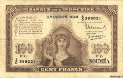 100 Francs NOUVELLE CALÉDONIE  1944 P.46b TB à TTB
