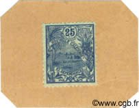 25 Centimes sur carton NOUVELLE CALÉDONIE  1914 P.23 NEUF