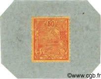 50 Centimes sur carton NOUVELLE CALÉDONIE  1914 P.25 NEUF