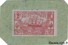 2 Francs sur carton NOUVELLE CALÉDONIE  1914 P.27 NEUF