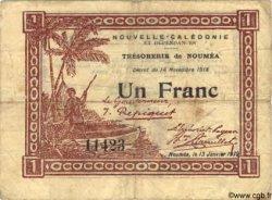 1 Franc NOUVELLE CALÉDONIE  1919 P.31 TB