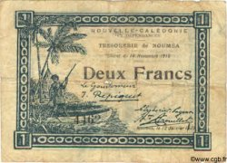2 Francs NOUVELLE CALÉDONIE  1919 P.32 B+