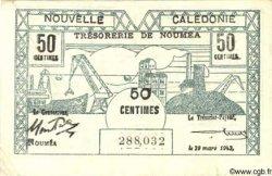50 Centimes NOUVELLE CALÉDONIE  1943 P.54