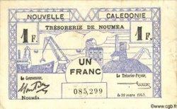 1 Franc NOUVELLE CALÉDONIE  1943 P.55b TTB