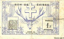 1 Franc NOUVELLE CALÉDONIE  1943 P.55a TB+
