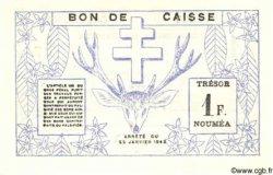 1 Franc NOUVELLE CALÉDONIE  1943 P.55a NEUF