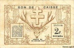 2 Francs NOUVELLE CALÉDONIE  1943 P.56b TB