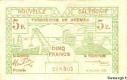 5 Francs NOUVELLE CALÉDONIE  1943 P.58 TTB