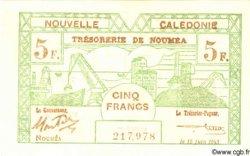 5 Francs NOUVELLE CALÉDONIE  1943 P.58 NEUF