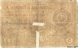 5 Francs NOUVELLE CALÉDONIE  1875 P.02 B+