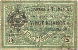 20 Francs NOUVELLE CALÉDONIE  1874 P.03 B