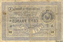 100 Francs NOUVELLE CALÉDONIE  1875 P.08 B+ à TB