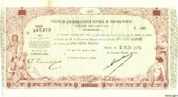 500 Francs NOUVELLE CALÉDONIE  1874 P.-