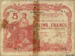 5 Francs TAHITI  1905 P.01b var pr.B