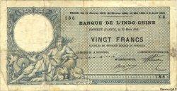 20 Francs vert au Neptune TAHITI  1914 P.02 TB