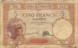5 Francs TAHITI  1930 P.11a B