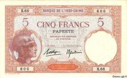 5 Francs TAHITI  1940 P.11c TTB