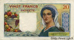 20 Francs TAHITI  1954 P.21b TTB à SUP