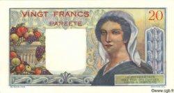 20 Francs TAHITI  1954 P.21b