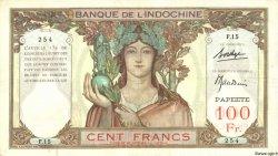 100 Francs TAHITI  1940 P.14b TB+