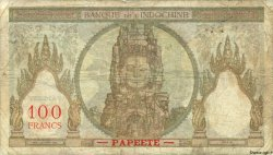 100 Francs TAHITI  1965 P.14d AB