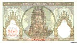 100 Francs TAHITI  1965 P.14d TTB+