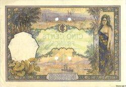 500 Francs TAHITI  1926 P.13bs TB+