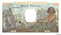 1000 Francs TAHITI  1957 P.15bs pr.NEUF