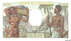 1000 Francs TAHITI  1957 P.15bs