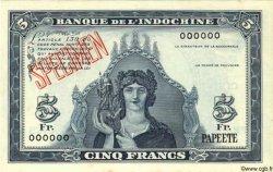 5 Francs TAHITI  1944 P.19s NEUF