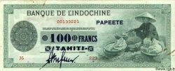 100 Francs TAHITI  1943 P.17b TTB+