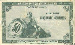 50 Centimes TAHITI  1920 P.08 TTB
